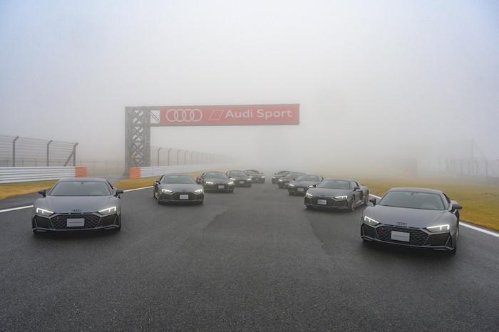Audi R8 Decennium納車式、富士スピードウェイで実施