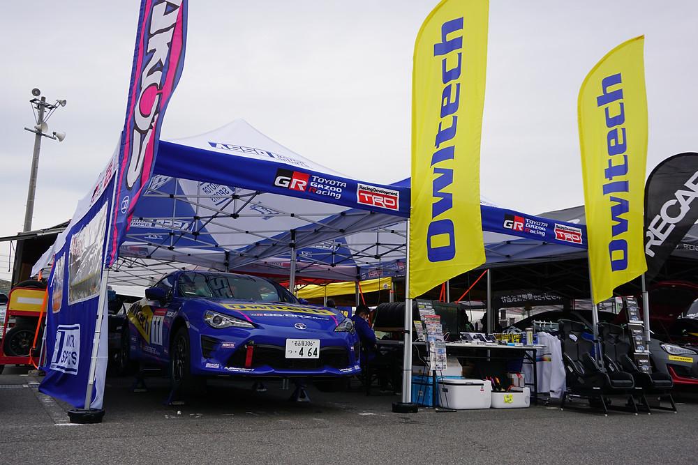 ASSO MOTOR SPORTS 脇阪寿一選手 86レースのテント