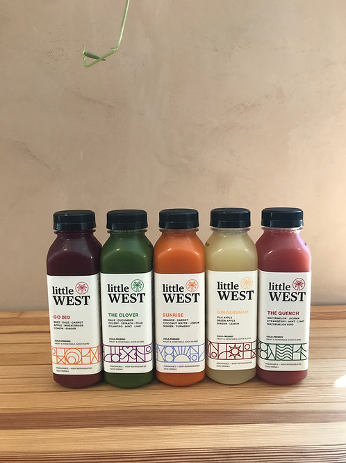 Cold Pressed Juice and Sparkling Water