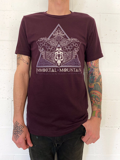 Immortal Mountain T-shirt - oxblood