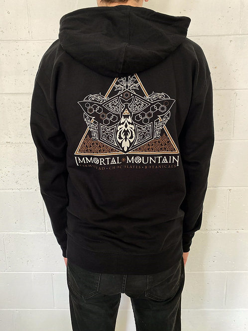 Immortal Mountain Hoodie - black zip