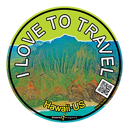 Hawaii's Island of Kuaia Sticker