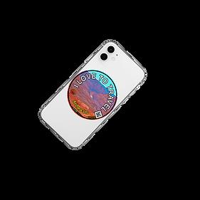 Iphone with sticker (travelmagnet sticker)