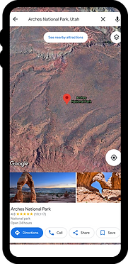 Phone with Google Map