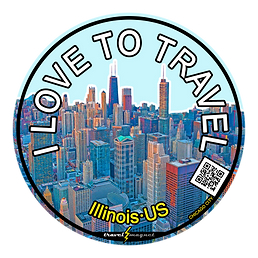 The windy city of Chicago city sticker