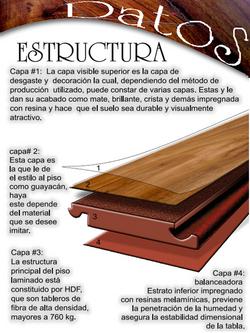 piso laminado texturizado estructura