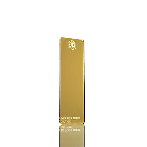 Acrílico - Mirror Gold 3mm