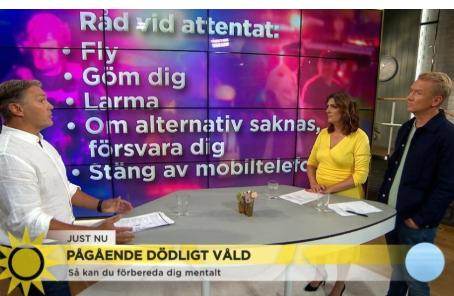 Råd vid attentat på tv4