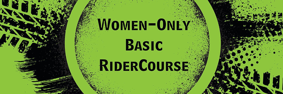 Tire Tracks for a Women Only Basic Rider Course