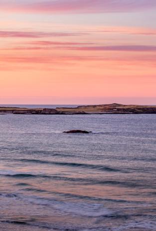 Stump at sunset