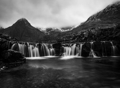 Black and White Fairy Pools