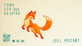 jumping fox painting wallpaper