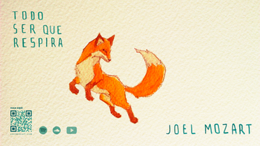 jumping fox painting wallpaper
