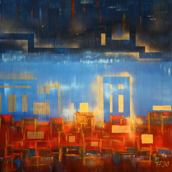 """Ölgemälde """" Lebanon """" 100 x 100"""