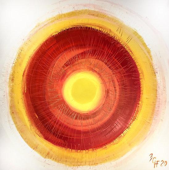 "Ölgemälde "" red sun "" 100 x 100"