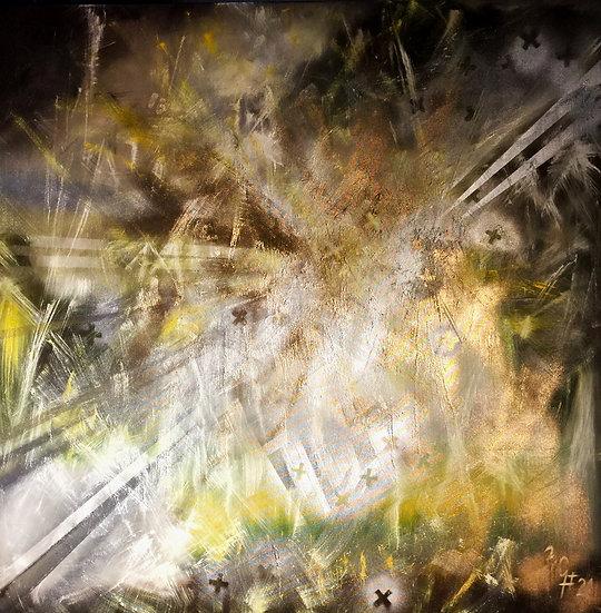 """Ölgemälde """" spring dream """" 100 x 100"""