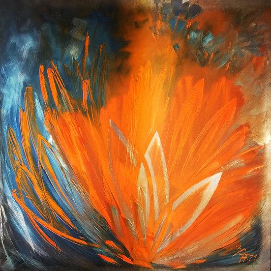 "Ölgemälde "" flores para Carmen "" 100 x 100"