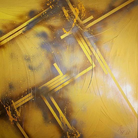 "Ölgemälde "" magic yellow "" 100 x 100"