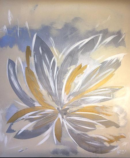 "Ölgemälde "" Ice flower "" 100 x 120"