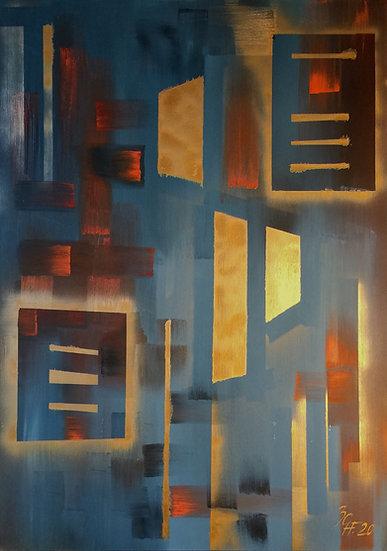 "Ölgemälde "" Palace "" 100 x 140"