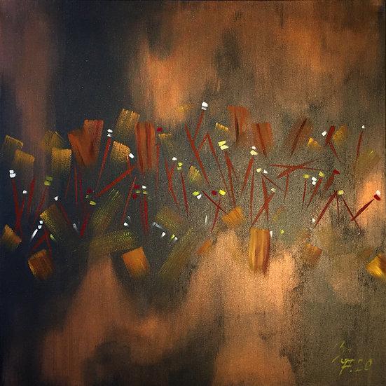 """Öl-Acrylgemälde """" cooper needles """" 100 x 100"""