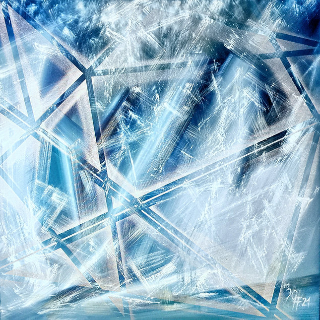 Atelier in Au - Gallery of Art - Title _ ice dream _ 2021 - 100 x 100