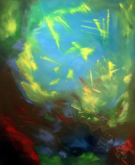 "Ölgemälde "" Corals "" 100 x 120"