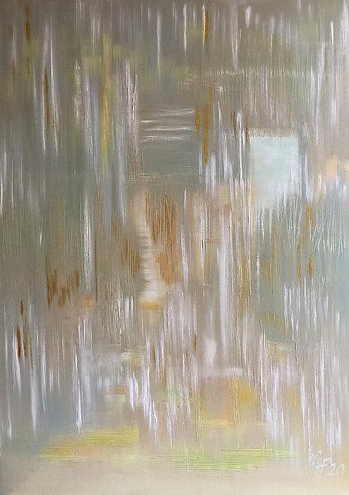 "Ölgemälde "" golden rain "" 100 x 140"