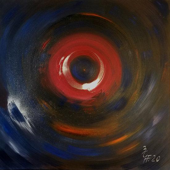 """Ölgemälde """" blue whirl """" 100 x 100"""