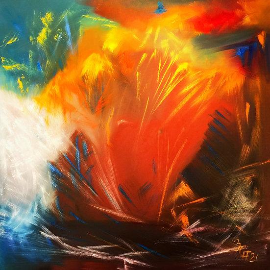"Ölgemälde "" l´ inferno di Dante "" 100 x 100"