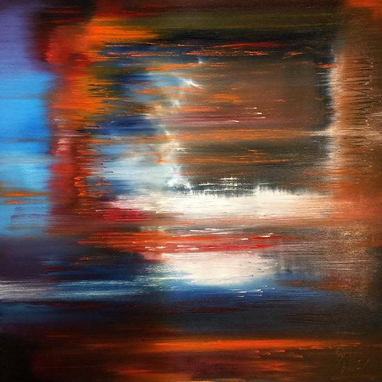 """Ölgemälde """" tears of heaven """" 100 x 100"""
