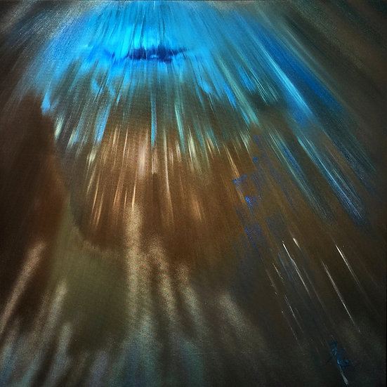 "Ölgemälde "" divine illimination "" 100 x 100"