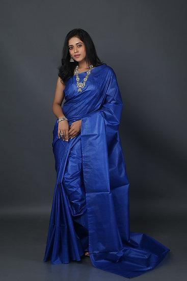 Truly Cobalt Tussar Saree