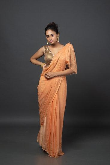 Soft Peachy Saree