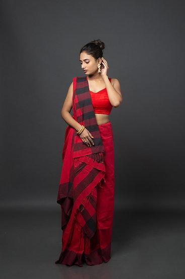 Crimson Crush Saree