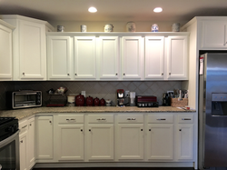 Cherry Cabinets Painted White