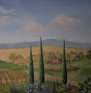 York County PA Landscape Mural of Tuscany