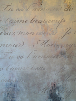 Lusterstone withFrench Script