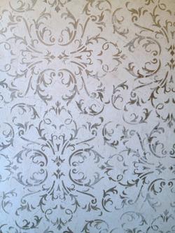 Stenciled Venetian Gem Plaster