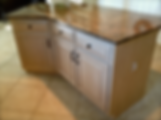 Central, PA Kitchen island with custom painteded finish