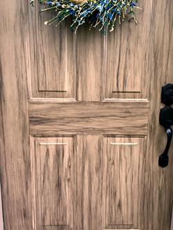 Faux Woodgrain Door