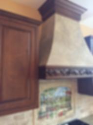 East Hempfield, PA | Custom faux finish range hood | stove hood