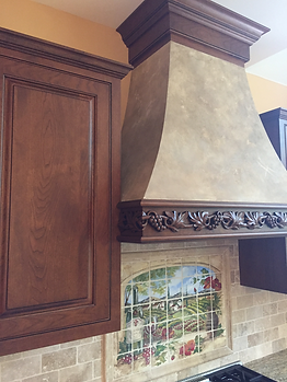 Central, PA Custom faux finish range hood | stove hood