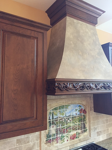 Custom Range Hood with Plaster Finish