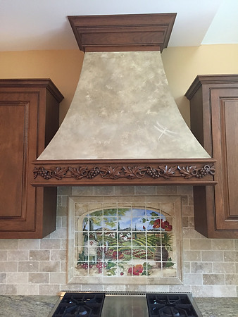 Custom Faux Finish Range Hood, Lancaster, PA