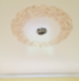 Stenciled Ceiling Medallion with Gold Foil | Stencil Artis Lancaster, PA
