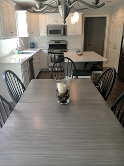 Faux Finish Table and Cabinets