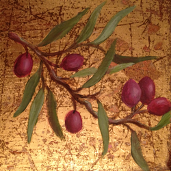 Gold Foil Olive Painting