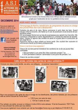 Newsletter Décembre 2014