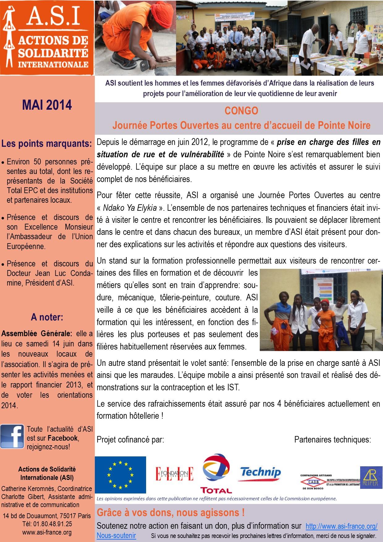Newsletter Mai 2014